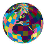 Vector world globe Royalty Free Stock Photography