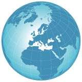 Vector world globe. Clip-art on a white Royalty Free Stock Image