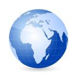 Vector world globe Royalty Free Stock Photos