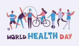 Vector World health day banner Stock Photo
