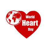 Vector World Heart Day illustration. Royalty Free Stock Image
