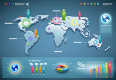 Vector world infographics set. Royalty Free Stock Photo