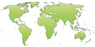 Vector world map. Of continents on white background vector illustration