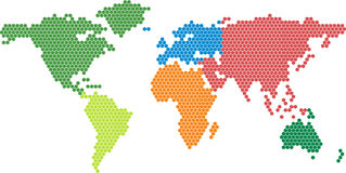 Vector world map Stock Photography