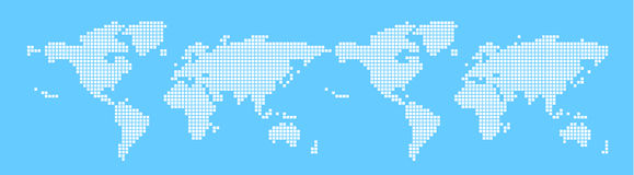 Vector, world map. It's a  map of world, in a lattice diagram Royalty Free Stock Photography