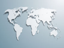 Vector World Map Stock Photo