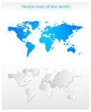 Vector World Map Royalty Free Stock Photo