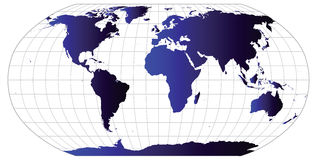 Vector World Map. This is a vector illustration and requires vector editing software, such as  Adobe Illustrator,  Freehand, or CorelDRAW to edit this file Stock Images
