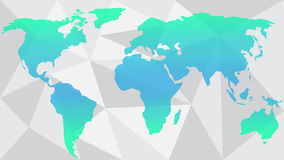 Vector World map abstract illustration colorful Royalty Free Stock Photos