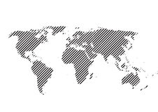 Vector world map background illustration Royalty Free Stock Photo