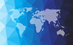 Vector world map Royalty Free Stock Images