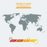 Vector world map chart Stock Photo