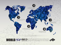Vector world map connection Royalty Free Stock Images
