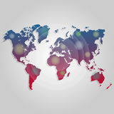 Vector world map connection. Worldmap template for website, design, cover, annual reports, infographics. Vector illustration world map connection. Worldmap Royalty Free Stock Photos