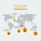 Vector world map ethnos. Continent  mainland  infographics.Flat graphics eps10 Royalty Free Stock Photography