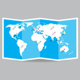 Vector world map Stock Image
