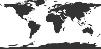 Vector world map. Grey on whitte vector world map Royalty Free Stock Photography