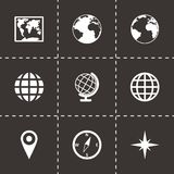 Vector world map icon set Royalty Free Stock Photography