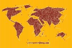 Vector World Map Illustration Stock Image