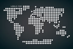 Vector World Map Illustration Stock Images
