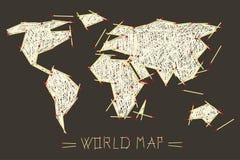 Vector World Map Illustration Stock Photo