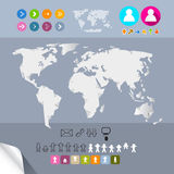Vector World Map Infographics Template Royalty Free Stock Images
