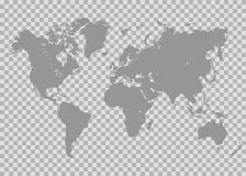 Vector world map. Isolated on chess back Stock Image