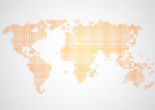 Vector world map pixel background illustration Royalty Free Stock Photos