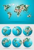 Vector world map polygonal royalty free illustration