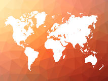 Vector world map silhouette on low poly background Royalty Free Stock Photography