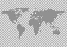Vector world map. Isolated on chess back Royalty Free Stock Images