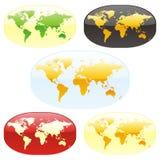 Vector world maps vector illustration