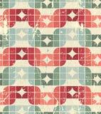 Vector worn textile geometric seamless pattern Royalty Free Stock Image