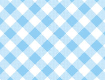 Vector Woven Blue Gingham. Vector Woven blue and white gingham fabric Royalty Free Stock Images