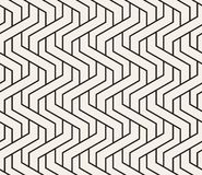 Vector woven seamless pattern. Stylish interweaving texture. Decorative geometric interlaced lines.