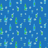 Vector wrapping paper texture. Drinks. Royalty Free Stock Image