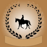 Vector wreath with a horse Stock Image