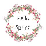 Vector wreath of spring flowers. Greeting cards, posters, advertisement. vector illustration