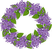 Vector wreath of twigs of lilac Stock Image