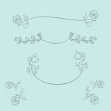 Vector wreaths and laurel wreaths. Round flower vector frames. H Stock Photography