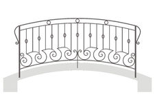 Vector wrought iron bridge Stock Photo