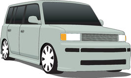 Vector xB - Front. A Vector .eps illustration of a boxy Scion xB. Saved in layers for easy editing. See my portfolio for more automotive images royalty free illustration
