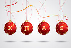 Vector Xmas ball Stock Photography