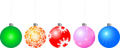 Vector xmas ball Royalty Free Stock Photography