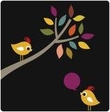 Vector xmas birds card design Royalty Free Stock Image