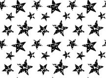 Vector xmas pattern with christmas black stars Royalty Free Stock Images