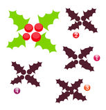 Vector ~ Xmas shape game: holly royalty free stock photos