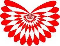 Vector y ejemplo, color rojo del logotipo de la mariposa ilustración del vector
