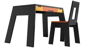 Vector y silla modernos negros Foto de archivo