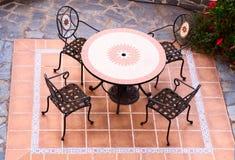 Vector y sillas al aire libre Imagen de archivo